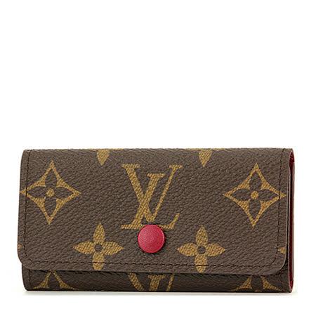 Louis Vuitton LV M60705 經典花紋四扣鑰匙包.紫紅_預購