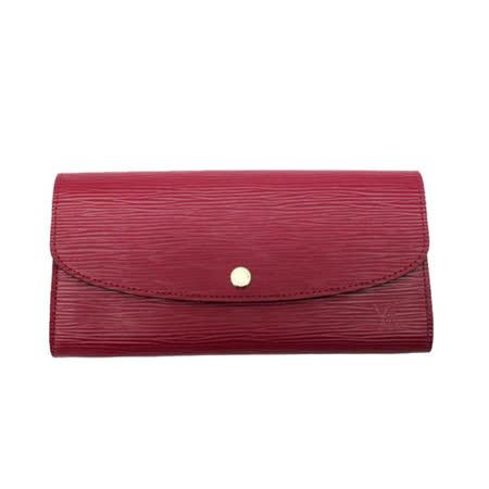Louis Vuitton LV M60851 EMILIE EPI水波紋皮革多功能長夾.紫紅_預購
