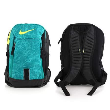 NIKE 後背包-雙肩包 旅行包 17吋筆電 綠黑 F