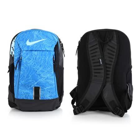 NIKE 後背包-雙肩包 旅行包 17吋筆電 黑藍 F