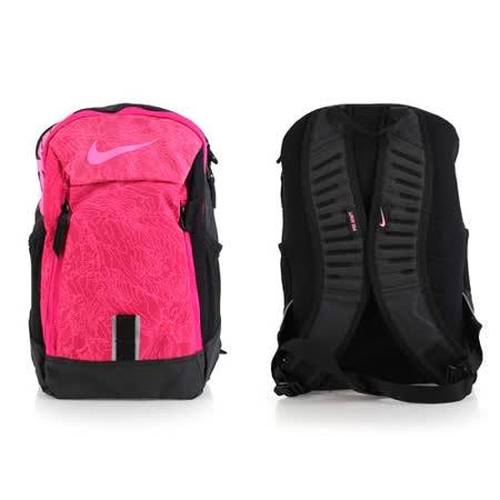 NIKE 後背包-雙肩包 旅行包 17吋筆電 黑粉 F
