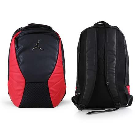 NIKE JORDAN RETRO 12後背包-雙肩包 喬丹  18吋筆電 黑紅 F