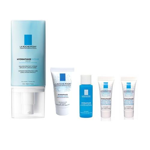 理膚寶水 全日長效玻尿酸修護保濕乳 潤澤型 50ml 水感保濕清新化妝水 15ml 泡沫洗