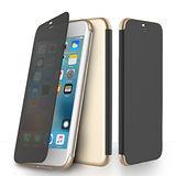 ROCK 透視系列 iPhone7 Plus 5.5吋側翻視窗保護皮套(金色)