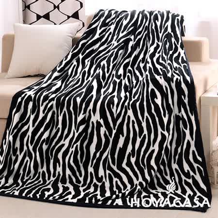 《HOYACASA奢華幻境》法蘭絨四季包邊毯