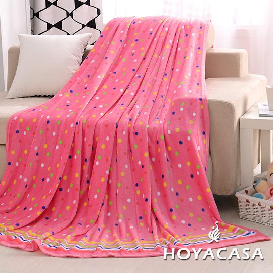 ~HOYACASA繽紛彩糖~法蘭絨四季包邊毯