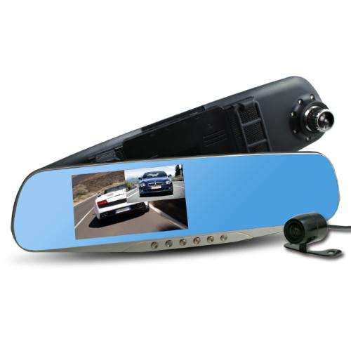 行走天下 CR05雙鏡頭後視鏡行車記錄器