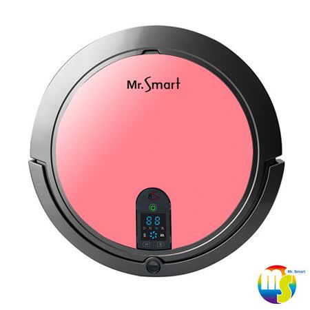 【Mr.Smart】8S 8倍高速氣旋移動吸塵掃地機器人- 胭脂粉紅 (送益菌潔居家清潔系列 居家清潔濃縮液(原味) 3入組 )