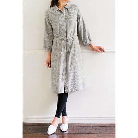 日本Portcros 預購-長版繫帶雙紗布連身裙(共三色)