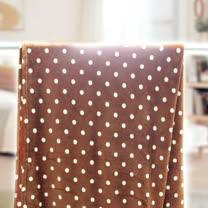 【情定巴黎】 熱銷大省方案 咖啡圓點 保暖聖品玫瑰絨毯包邊超值款(150cm x200cm)