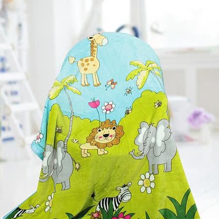 【情定巴黎】 熱銷大省方案 森林世界 保暖聖品玫瑰絨毯包邊超值款(150cm x200cm)