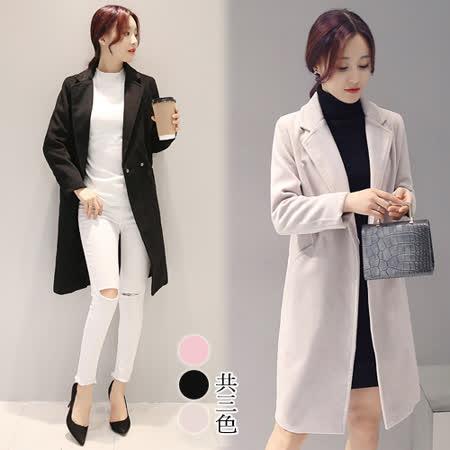 【韓國KW】時尚簡約百搭西裝長外套