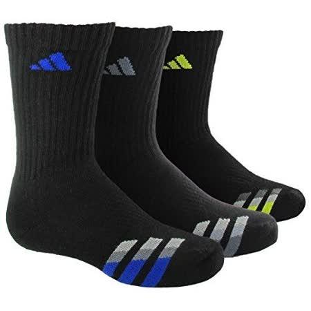 【Adidas】2016男學生經典黑色中筒襪3入組【預購】
