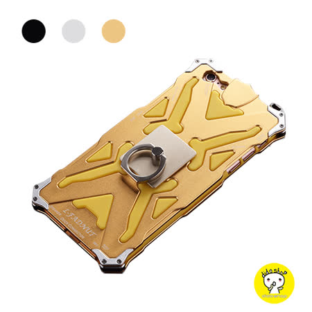【dido shop】iPhone 6 Plus/6S Plus 指環扣支架手機殼 金屬+矽膠套手機殼 防摔 防震 防刮 YD020