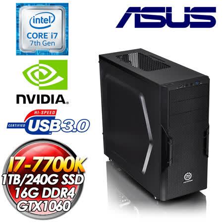 華碩Z170平台【高能快閃】I7-6700K四核 240G SSD/GTX1060獨顯電競機