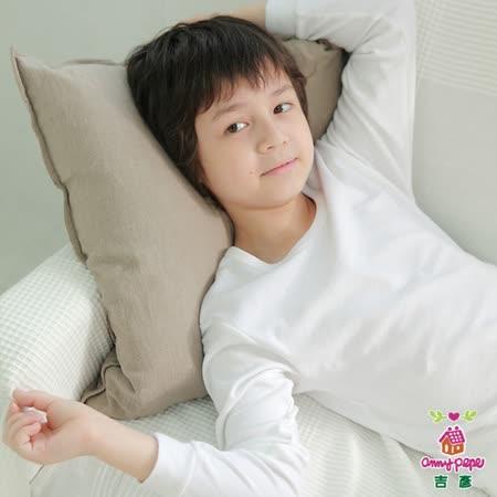 【Anny pepe】男童基本款白色長袖 ❤100%美國精梳棉❤入冬必備