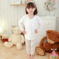 【Anny pepe】女童基本款白色長袖 ❤100%美國精梳棉❤入冬必備