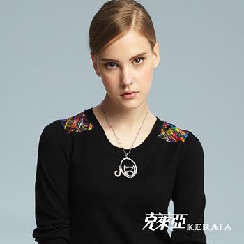 【克萊亞KERAIA】晶鑽小貓圓項鍊