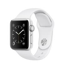 Apple Watch Series 1 38mm/38公釐 A 銀色鋁金屬錶殼 搭配白色運動型錶帶 智慧型手錶【含錶貼+錶套+充電器】(MNNG2TA/A)