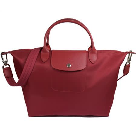 法國Longchamp Le Pliage Neo 折疊厚尼龍短把兩用包.紅 大 #1515
