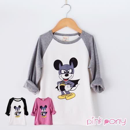 【Pink Pony】蝙蝠俠米奇長袖T恤