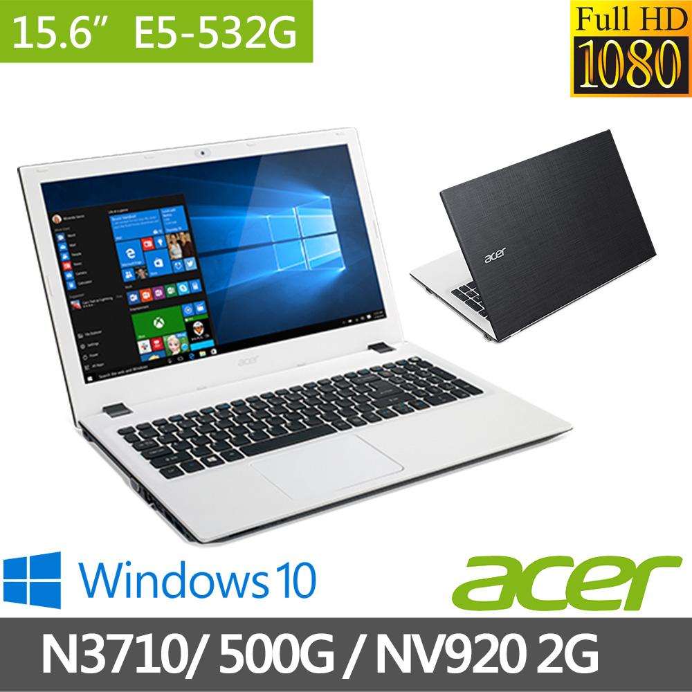 Acer Aspire E5 15.6吋《麻布格紋》四核心 2G獨顯 Win10超值文書筆電(白)(E5-532G-P4EJ)