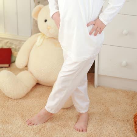 【Anny pepe】女童基本款白色長褲 ❤100%美國精梳棉❤入冬必備