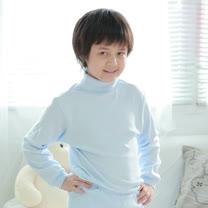 【Anny pepe】兒童翻/折領水藍色長袖 ❤100%美國精梳棉❤冬季必備