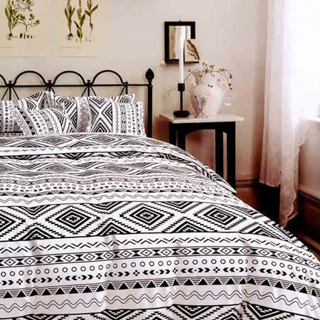 (任選) Aileen 印地安舞曲 加大枕套床包組 獨家贈同款四季被