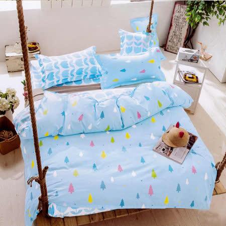 (任選) Aileen 森林之歌 雙人枕套床包組 獨家贈同款四季被