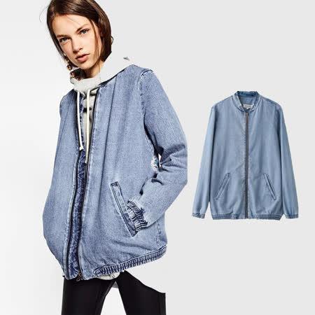 【nata】飛行員刺繡牛仔夾克