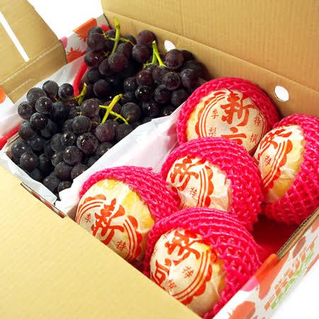 【鮮果日誌】順利健康禮盒(新高梨5入+巨峰葡萄2.5台斤)