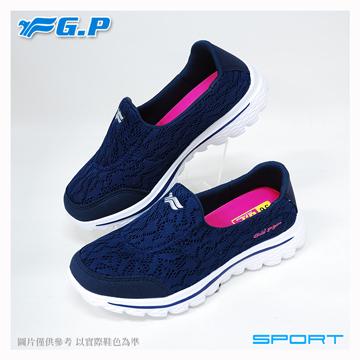 ~G.P 輕量休閒懶人鞋~P7610W~20 藍色 ^(SIZE:36~40 共二色^)