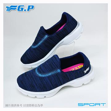 ~G.P 輕量休閒懶人鞋~P7622W~20 藍色 ^(SIZE:36~40 共三色^)