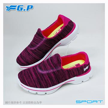 ~G.P 輕量休閒懶人鞋~P7622W~45 桃紅色  SIZE:36~40 共三色