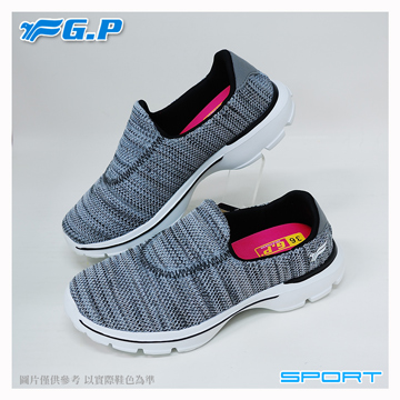 ~G.P 輕量休閒懶人鞋~P7622W~70 灰色  SIZE:36~40 共三色