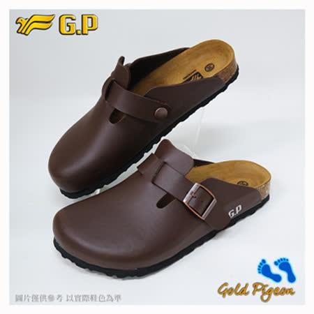 【G.P 休閒個性柏肯鞋】W777-30 咖啡色 (SIZE:35-39 共二色)