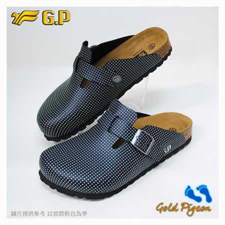 【G.P 休閒個性柏肯鞋】W777-81 白黑色 (SIZE:35-39 共二色)