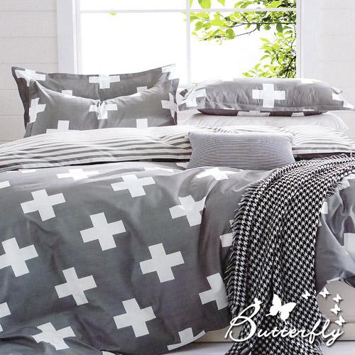 BUTTERFLY  柔絲絨雙人加大薄床包 含枕套x2 ~維納斯~