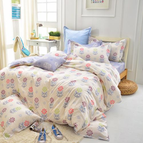 IN HOUSE~Mario s Flower~200織精梳棉~四件式兩用被床包組^(雙人