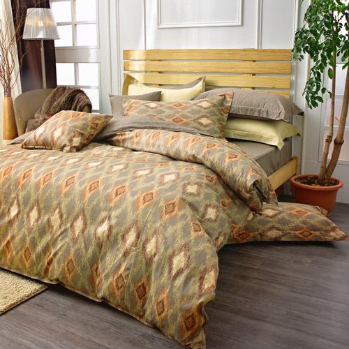 IN HOUSE~Norwegian Forest~300織精梳棉四件薄被套床包組 雙人