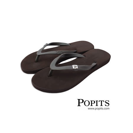 美國POPITS時尚平底夾腳拖 - 咖啡色