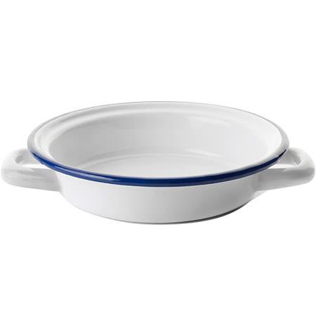 《IBILI》Blanca雙柄琺瑯淺餐盤(16.7cm)