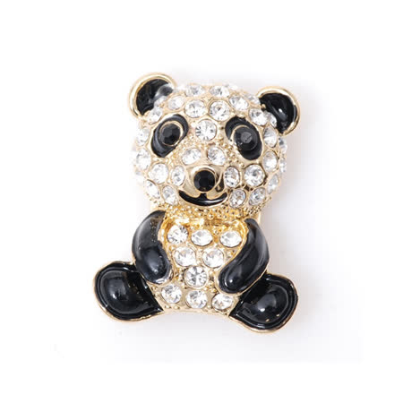 POPITS水晶大熊貓扣飾