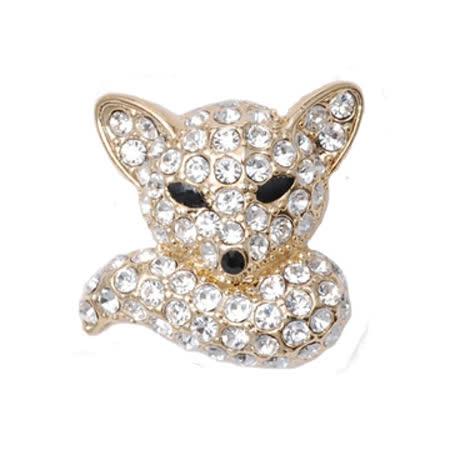 POPITS水晶小狐狸扣飾-金色
