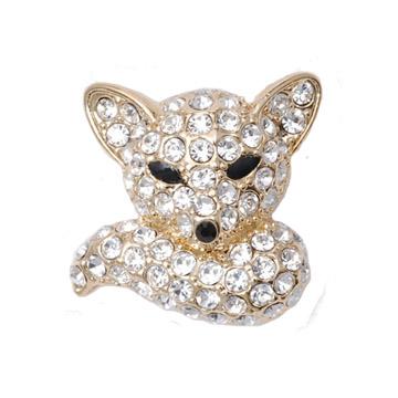 POPITS水晶小狐狸扣飾~金色