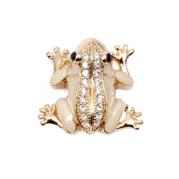 POPITS水晶小青蛙扣飾~金色