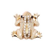 POPITS水晶小青蛙扣飾-金色