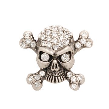 POPITS水晶骷髏頭扣飾 ~ 鐵灰色