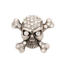 POPITS水晶骷髏頭扣飾 - 鐵灰色